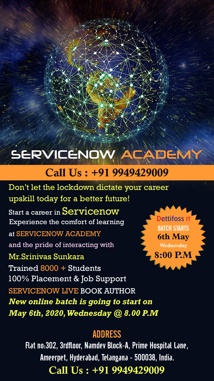 Advanced Servicenow Online Training in Hyderabad - 25% off on Course Fee