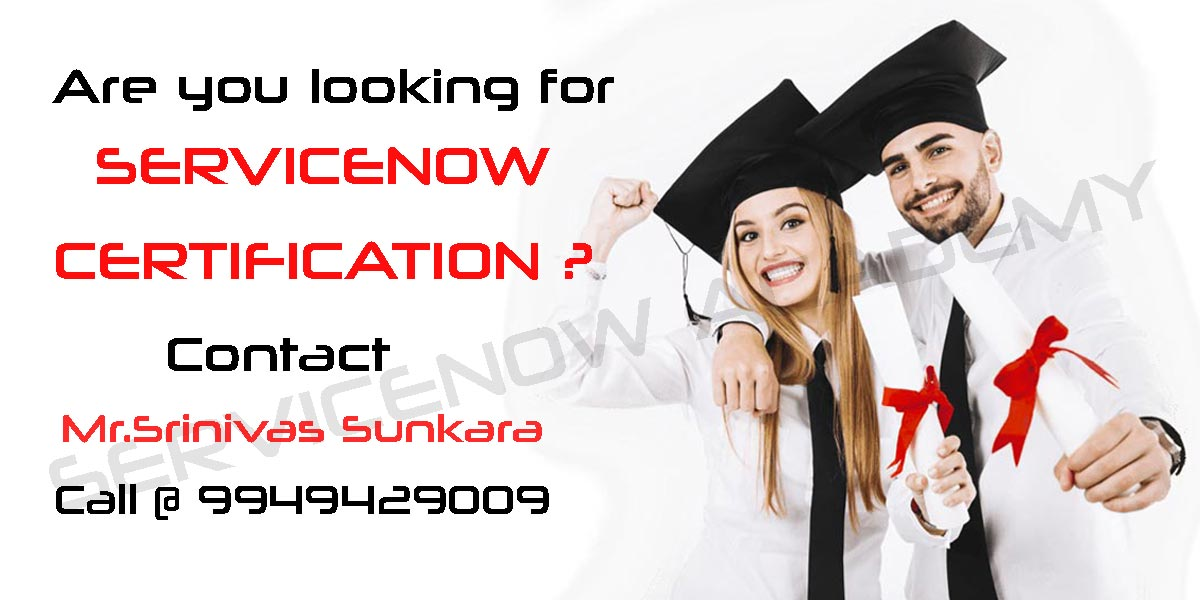 Servicenow Certification Course Training in Hyderabad