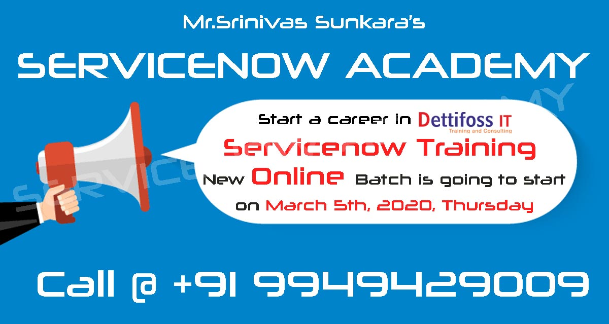 Servicenow Course Online Training in Hyderabad