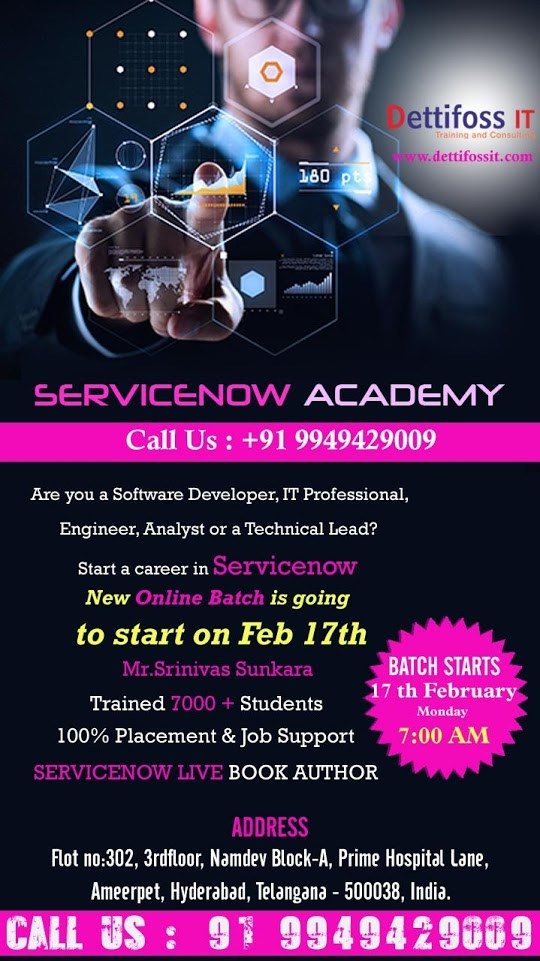 Servicenow Online Training in Hyderabad