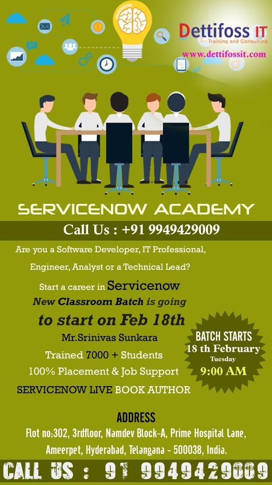 Servicenow Classroom Training in Hyderabad - Feb,2020