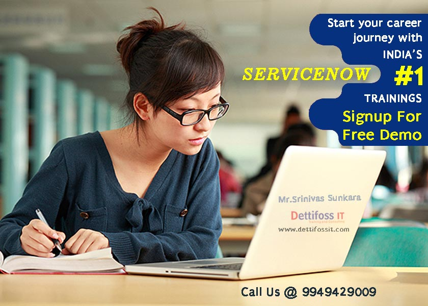 ServiceNow Training with placement in Ameerpet