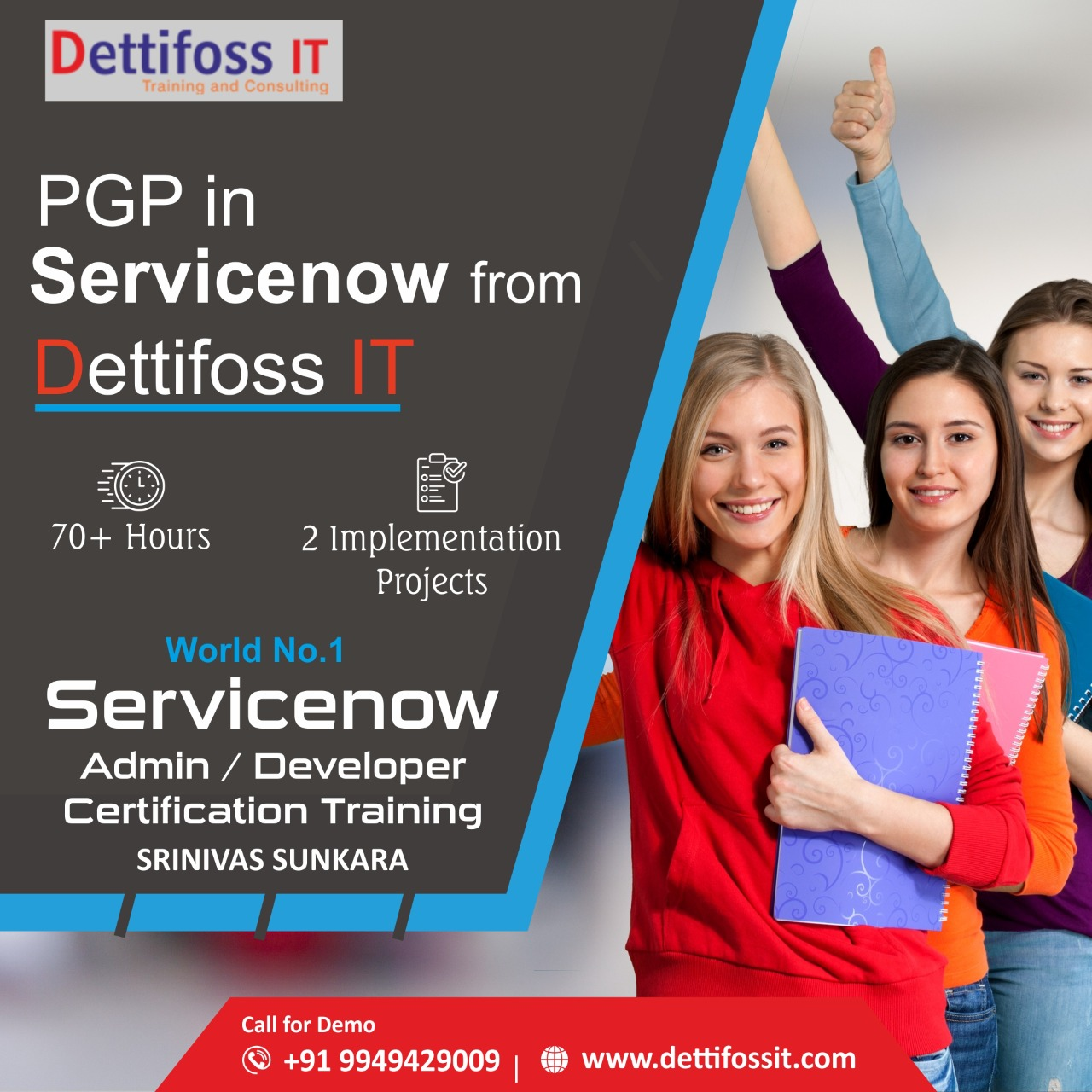 PGP integration + ServiceNow Training from DettifossIT in Hyderabad