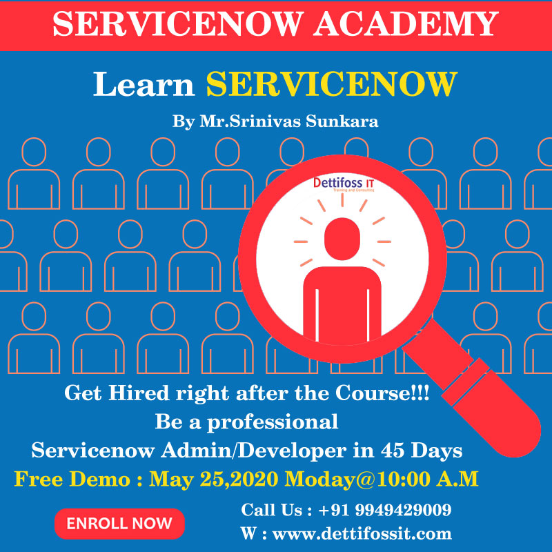 Learn Servicenow Course in Ameerpet