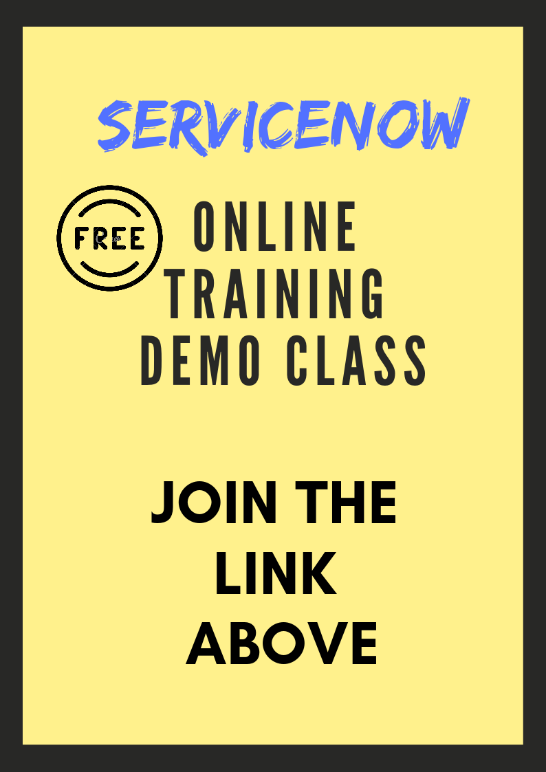 ServiceNow Online Training Demo class meeting Link on 26/12/2018 @ 6 pm IST